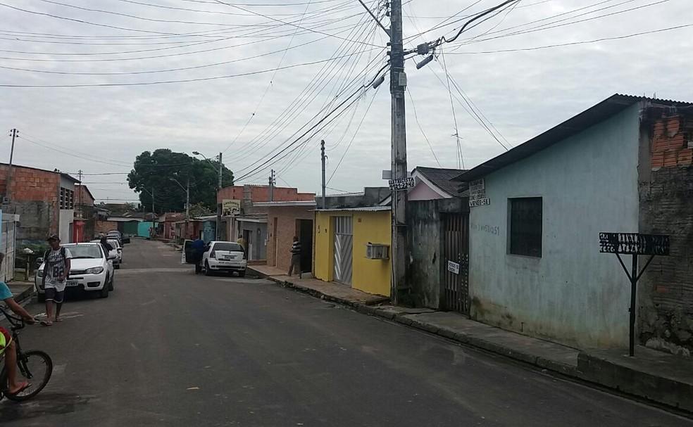 Bebê foi morto na casa da família no bairo São José 3, na Zona Leste da cidade. (Foto: Ive Rylo/G1 AM)