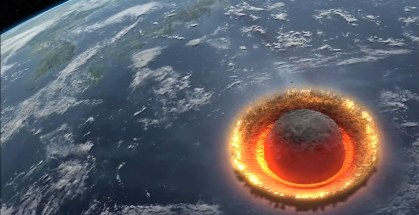 Impacto romperia a crosta terrestre e lançaria os detritos em órbita (Foto: Reprodução)