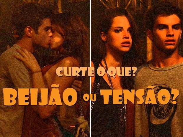 Os dois tavam no maior love (OOOWWWNNN) até que...MOMENTOS DE TENSÃO!!! (Foto: Malhação / Tv Globo)