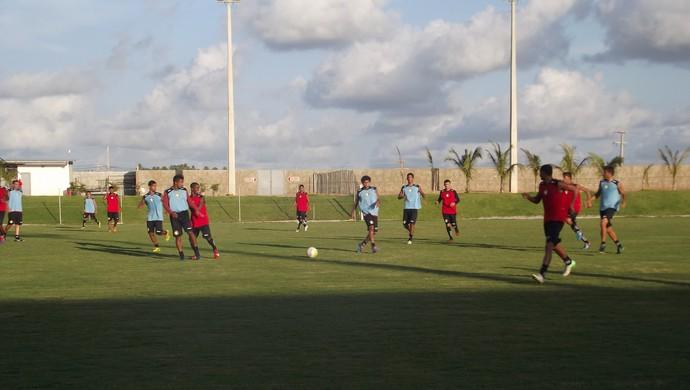 Treino do Globo FC (Foto: Ferreira Neto)