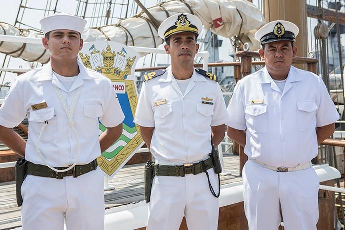 Os oficiais da equipe do comandante João Alberto Araujo Lamper (Foto: Fábio Rocha/Gshow)