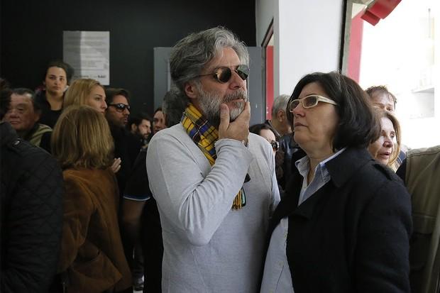 Velório Umberto Magnani - Leopoldo Pacheco (Foto: Alessandra Gerzoschkowitz/ EGO)