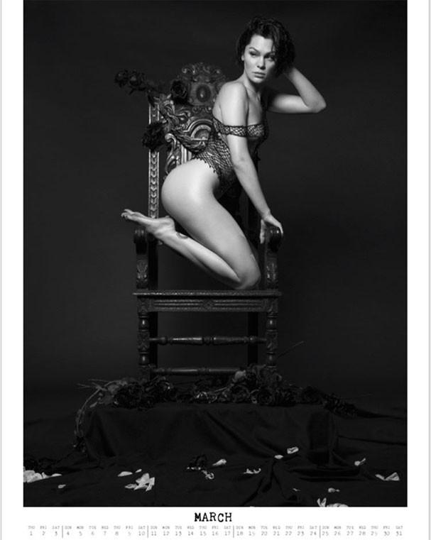 Jessie J em imagem do mês de março (Foto: Reprodução/Instagram)