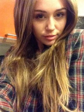 Miley Cyrus experimenta peruca (Foto: Twitter/ Reprodução)