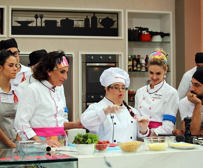 Participantes no workshop com chefs especiais (Foto: Priscilla Massena/Gshow)