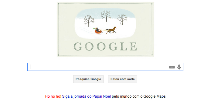 Doodle de Boas Festas ganha cartão de Natal do Google  (Foto: Divulgação/Google)