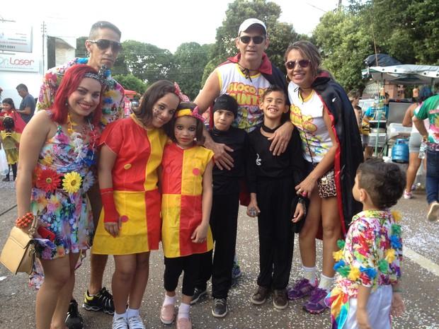 Bloco do Pinto reuniu crianças e responsáveis para curtir o carnaval de Porto Velho (Foto: Mary Porfiro/G1)