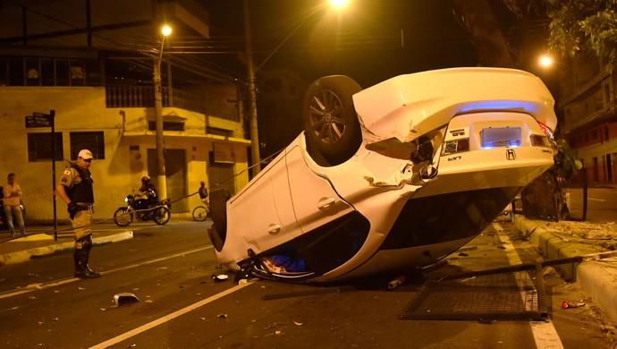 Leonardo Bonatini, Jogador Cruzeiro, Acidente (Foto: Douglas Magno / Agência estado)