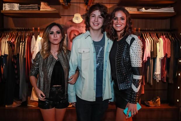 Tata Werneck, Lucas Jagger e Bruna Marquezine (Foto: Raphael Castello / AgNews / Divulgação )