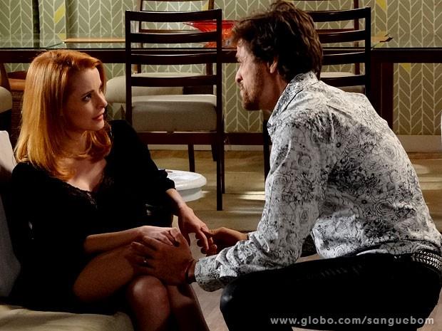 Manolo pede Lara em casamento (Foto: Sangue Bom/TV Globo)