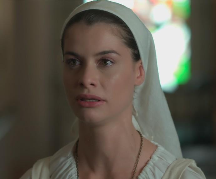 Lívia promete à mãe que não vai mais se aproximar de Felipe (Foto: TV Globo)