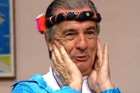 Orlando como Seu Peru na 'Escolinha do Professor Raimundo' (Foto: TV Globo)