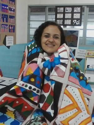 Gislene é professora de artes na rede pública (Foto: Gislene Silva/Arquivo Pessoal)