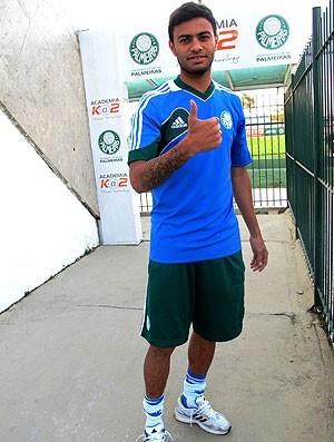 Cleiton Xavier treino Palmeiras (Foto: Marcelo Hazan)