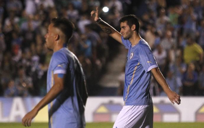 Pereiro, gol Uruguai x Paraguai sub-20 (Foto: EFE)
