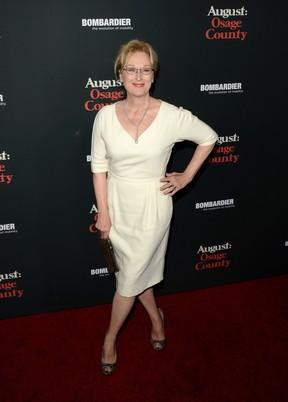 Meryl Streep em pré-estreia de filme em Los Angeles, nos Estados Unidos (Foto: Jason Merritt/ Getty Images/ AFP)