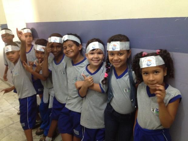 O objetivo da campanha é conscientizar as crianças e adolescentes (Foto: Letícia Bucker/G1)