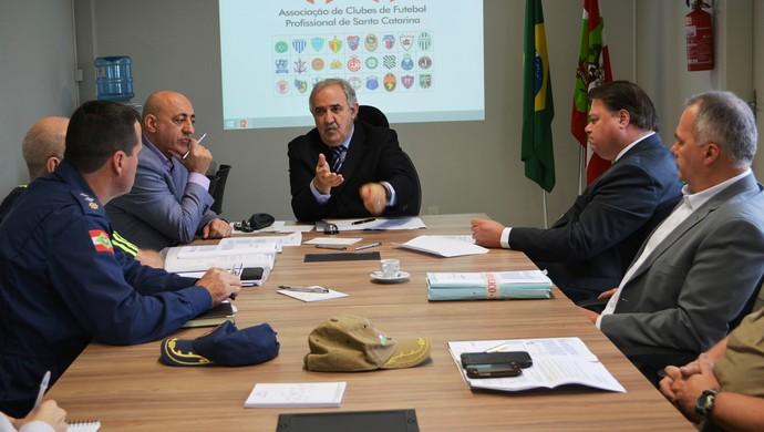 Reunião Campeonato Catarinense (Foto: Divulgação/SC Clubes)