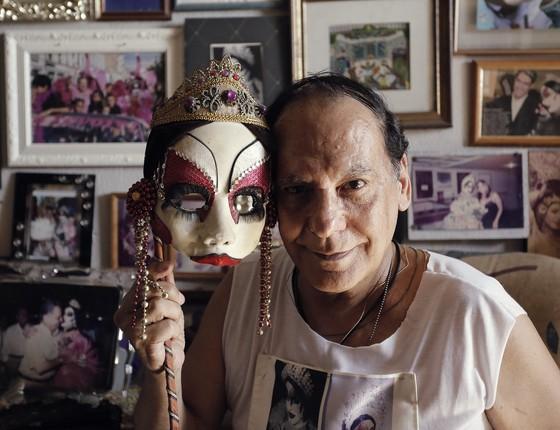 Nascido na Argentina, o querido Jorge Omar Iglesias é o criador e quem dá vida a Isabelita dos Patins (Foto: Divulgação)