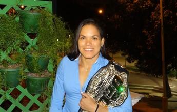 """Amanda Nunes sobre primeira defesa de título: """"Tem que ser com a Ronda"""""""