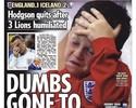 Tabloide estampa filho de Rooney em capa após derrota e revolta a mãe