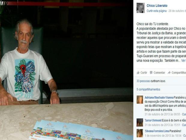 Chico Liberato teve fraturas de ossos da face e uma suspeita de fratura em vértebra da coluna cervical (Foto: Reprodução / Facebook)