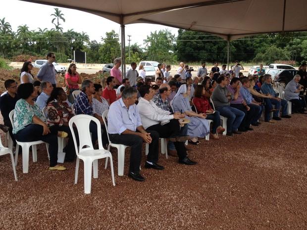 Lançamento das obras do Hospital de Câncer da Amazônia, em Porto Velho (Foto: Karla Cabral/G1)