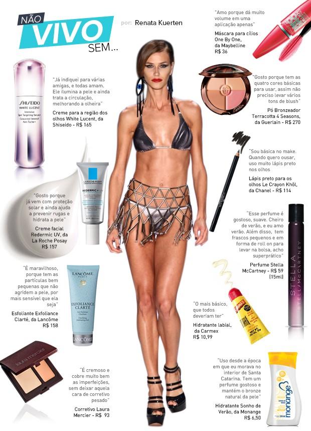 aa6bce684 EGO - Top Renata Kuerten lista seus produtos de beleza preferidos ...