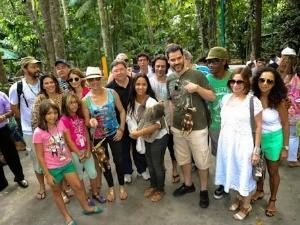 Cerimônia com atores aconteceu no Inpa, em Manaus (Foto: Divulgação/Amazonas Film Festival 2012)