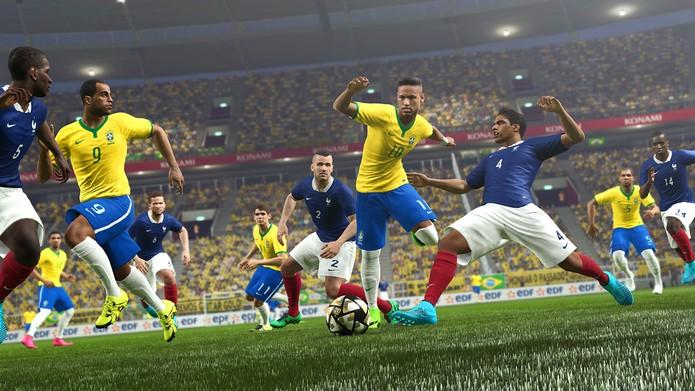 Neymar é um dos destaques da vigésima edição da série (Foto: Divulgação/Konami)