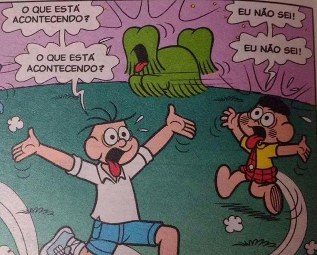 Usuários usaram um quadrinho da Turma da Mônica para descrever a situação política do Brasil (Foto: Reprodução)