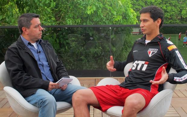 Ganso entrevista São Paulo (Foto: Marcelo Prado)