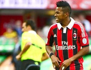 Robinho, Sampdoria e Milan (Foto: Agência AFP)