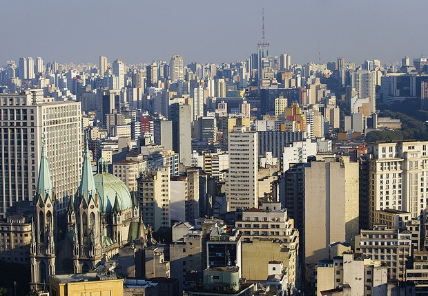 Vista aérea da cidade de São Paulo; imóveis; imóvel (Foto: Keiny Andrade/LatinContent Stringer/Getty Images)