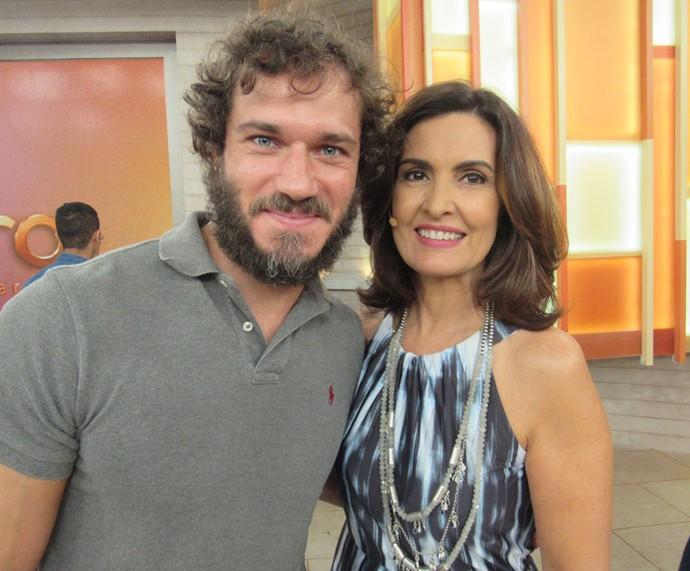 Paulo Rocha posa com a Fátima  (Foto: Priscilla Massena/Gshow)