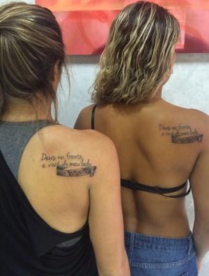 Dupla fez uma tatuagem representante a parceria (Foto: Arquivo Pessoal)