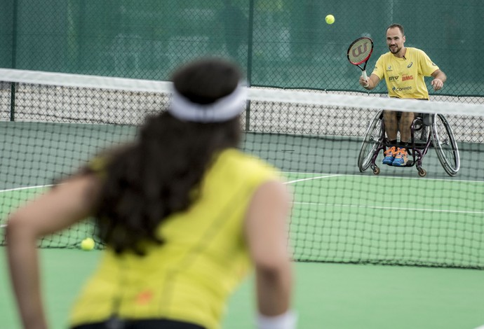 tênis paralímpico Natália Mayara e Bruno Soares (Foto: Daniel Zappe/CPB/MPIX)