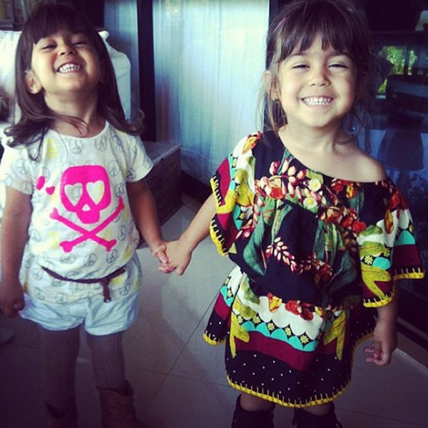 Sofia e Antonia, filhas da atriz Giovanna Antonelli, completam 3 anos (Foto: Reprodução / Instagram)