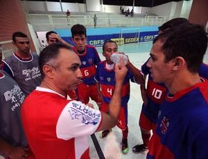Udenis Oliveira, técnico do Alecrim, campeão da Taça Brasil de Futsal (Foto: Zerosa Filho/CBFS/Divulgação)