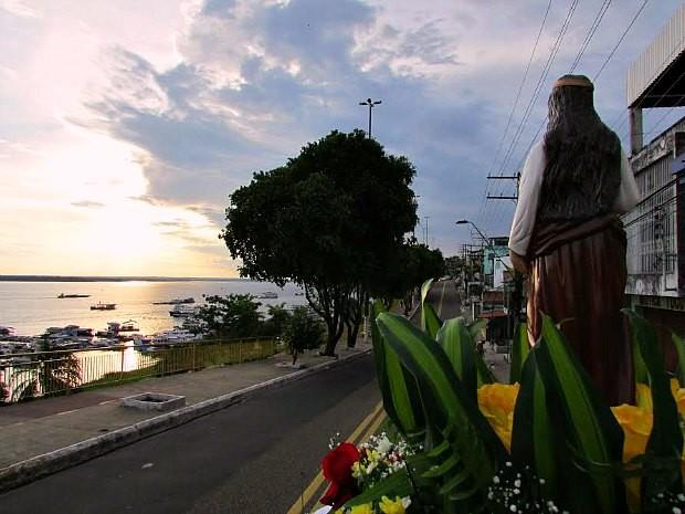 Paróquia de Santa Luzia organiza carreata na Zona Sul de Manaus (Foto: Divulgação)
