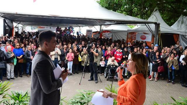 Festival de Cucas reuniu milhares de pessoas no Mercado Público (Foto: Nilson Bastian/Divulgação)