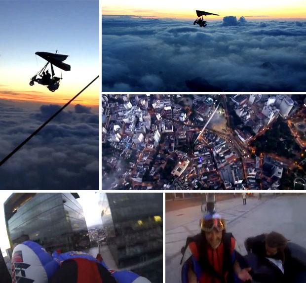 wingsuit voo pelo  Rio de Janeiro - Ludovic Woerth & Jokke Sommer (Foto: Reprodução / Youtube)