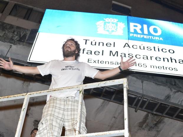 João Velho em reinauguração do túnel Acústico Rafael Mascarenhas na Zona Sul do Rio (Foto: André Muzell/ Ag. News)