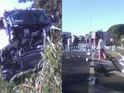 Caminhões batem e homem fica ferido em Herculândia, SP