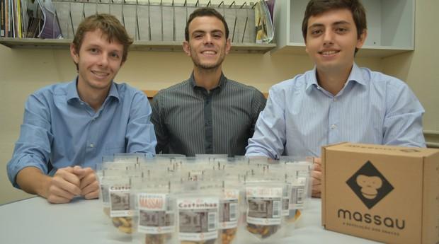Leonardo Feitosa, Sergio Sayeg e Rodrigo Pedroni utilizaram a experiência com e-commerce para montar o clube de assinaturas (Foto: Divulgação/Massau)