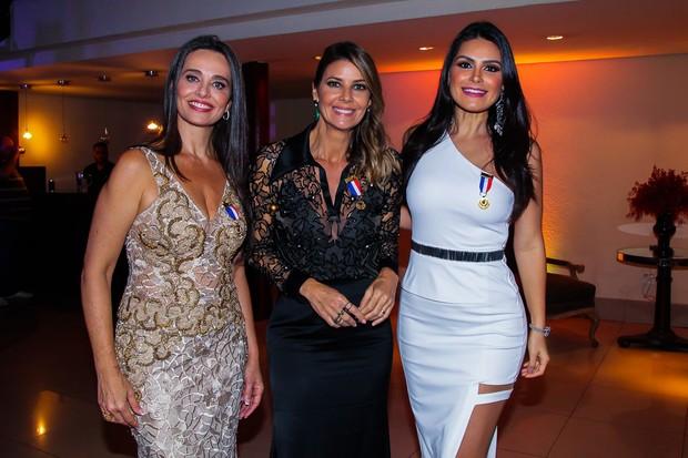 Carla Vilhena, Fabiana Scaranzi e Natália Guimarães (Foto: Manuela Scarpa/Brazil News)