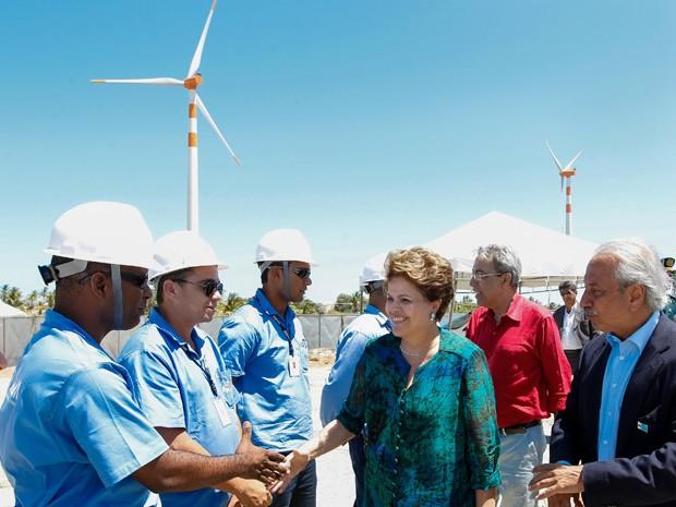A presidente Dilma Rousseff durante inauguração de usina eólica em Sergipe  (Foto: Roberto Stuckert Filho / Presidência)