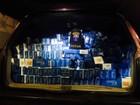 Carro é apreendido com 12.500 maços de cigarros contrabandeados