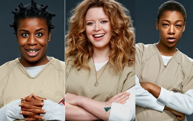 Uzo Aduba, Natasha Lyonne e Samira Wiley em Orange is the new black (Foto: Divulgação)