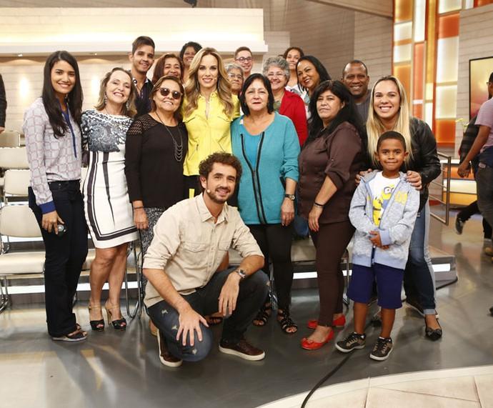 Mais plateia do 'Encontro' com os apresentadores  (Foto: Fábio Rocha/Gshow)